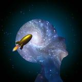 Verstand und Rakete Stockfotos
