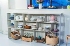 Versteck des Kochens von Stützen von verschiedenen Farben Stockfotos