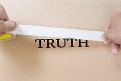 Versteckende Wahrheit Stockfoto