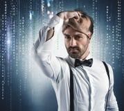 Versteckte Identität eines Hackers Stockfotografie