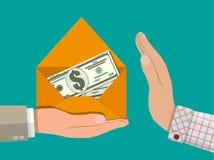 Versteckte Löhne, schwarze Zahlungen, Steuerhinterziehung, Bestechungsgeld Lizenzfreie Stockfotos