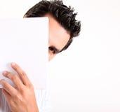 Versteckter Mann Stockbild