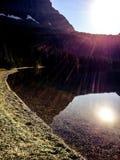 Versteckter See-Sonnenaufgang Stockbild