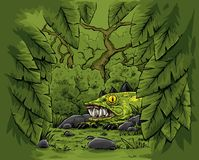 Verstecktes Dschungel-Tier Lizenzfreies Stockfoto