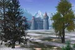 Verstecktes Schloss Stockfoto