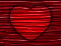 Verstecktes weißes Herz auf geometrischem rotem Hintergrund Lizenzfreie Stockfotos