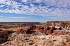 Versteinert-Wald-National-Park, Arizona, USA stockbild