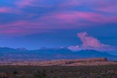 Versteinerte Dünenansicht von La-Salz-Bergen Lizenzfreie Stockfotos