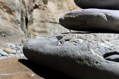 Versteinerter Steinsteinhaufenabschluß oben Stockbild