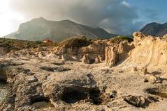 Versteinerter Wald in Griechenland Lizenzfreie Stockfotografie