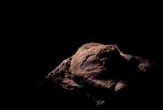Versteinertes Oberteil mit schwarzem Hintergrund Stockbild