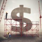Versterk Amerikaanse economie het 3d teruggeven Stock Foto's