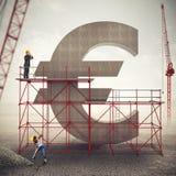 Versterk euro economie het 3d teruggeven Stock Afbeelding