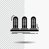 versterker, analogon, lamp, geluid, het Pictogram van buisglyph op Transparante Achtergrond Zwart pictogram royalty-vrije illustratie
