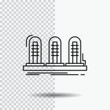 versterker, analogon, lamp, geluid, het Pictogram van de buislijn op Transparante Achtergrond Zwarte pictogram vectorillustratie stock illustratie