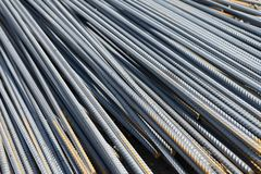 Versterking voor de vervaardiging van betonconstructies en stichtingen stock foto
