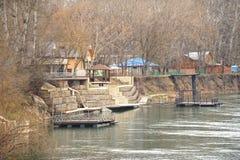 Versterkt door de rivier. Royalty-vrije Stock Foto