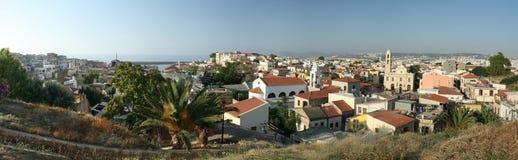 Versterkt Mediterraan Dorp Stock Foto's