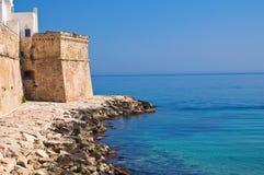 Versterkte muur. Monopoli. Puglia. Italië. Stock Afbeelding