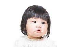 Verstoord de babygevoel van Azië stock foto's