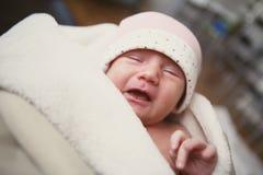 Verstoorde baby stock afbeelding