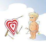 Verstoorde Cupido Vector Illustratie