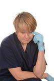 Verstoorde verpleegster Stock Fotografie