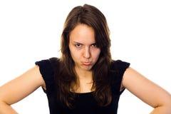 Verstoorde vrouw Stock Foto