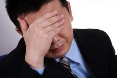 Verstoorde zakenman stock fotografie