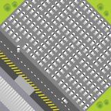 Verstopt Parkeerterrein Vector Illustratie
