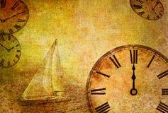 Verstreichende Zeit, abstraktes Weinlesemotiv Stockbilder