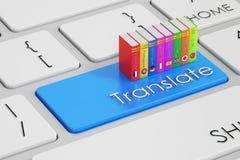 Översätt begreppet på tangentbordet Arkivfoto
