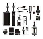 Verstuiveruitrustingen - silhouet Stock Foto's