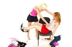 Versuchen auf der Garderobe 4 Lizenzfreie Stockfotos