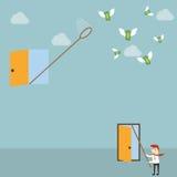 Versuchen, Geld zu fangen Lizenzfreies Stockfoto