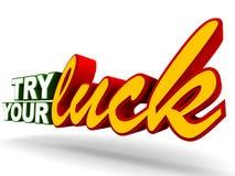 Versuchen Sie Ihr Glück Lizenzfreies Stockfoto