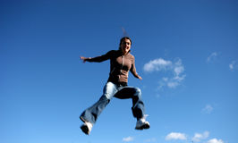 Versuchen zu fliegen Stockbild