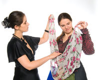 Versuchendes neues Kleid Lizenzfreies Stockfoto