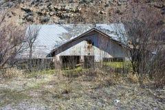 Versunkene Hausfassade Lizenzfreie Stockfotografie