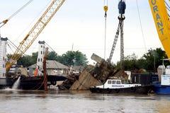 Versunkene Schiffsextraktion lizenzfreies stockfoto