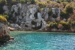 Versunkene Stadt von Kekova-Insel in der Türkei Anblick von Antalya-Provinz Lizenzfreie Stockbilder