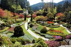 Versunkener Garten Stockbild