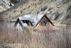 Versunkenes Haus Stockfotografie