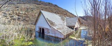 Versunkenes Haus-Panorama Lizenzfreie Stockfotografie