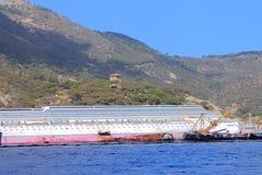 Versunkenes Kreuzschiff Lizenzfreie Stockfotos