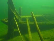 Versunkenes Ruderboot Lizenzfreies Stockbild