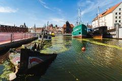 Versunkenes Schiff in einer Bucht von Gdansk Stockbilder