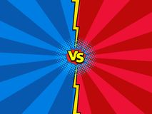 Versus comic book versus background, superhero action royalty free illustration