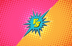 Versus duel fighting background Royalty Free Stock Images