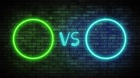 Versus ekran w neonowym stylu